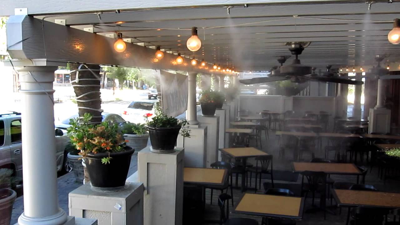 Restaurant Outdoor Cooling And Misting Solutions Hydrcool Uae
